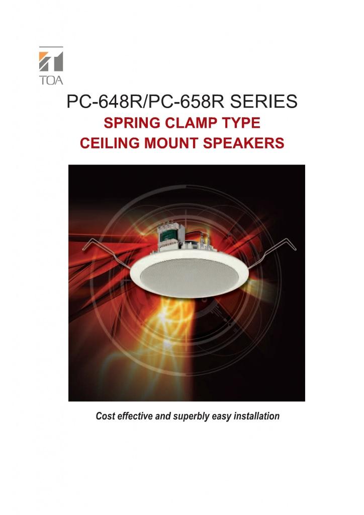 pc-648r thông số kỹ thuật loa âm trần