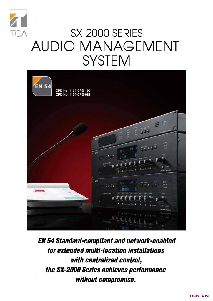 sx-2000sm Hệ thống âm thanh công cộng