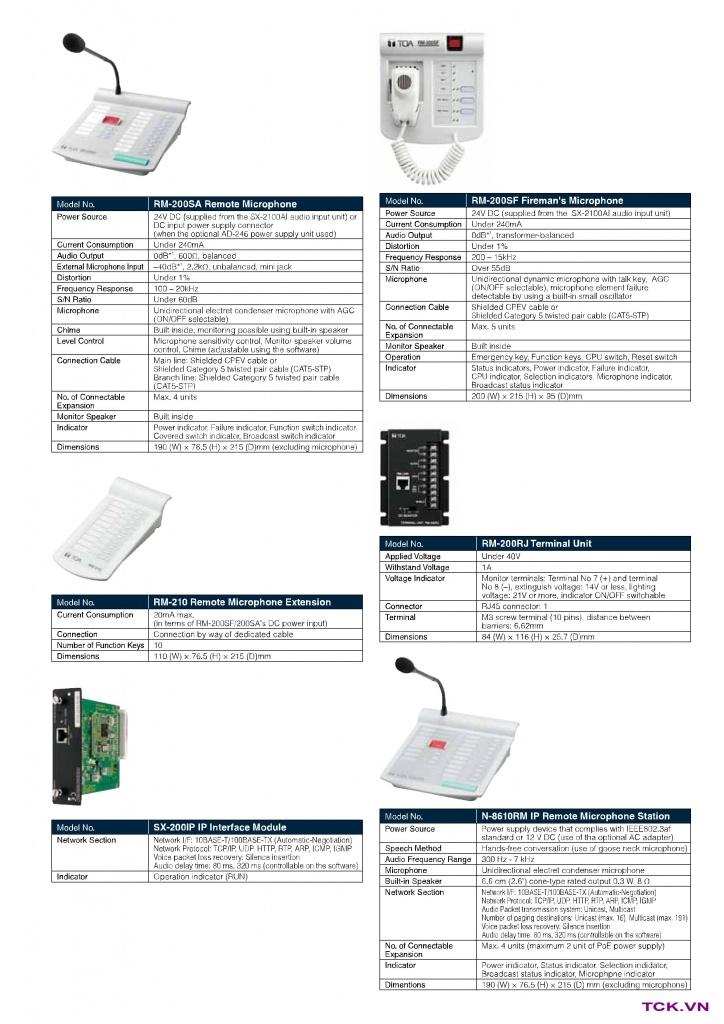 sx-2000sm thiết bị thông số kỹ thuật 4