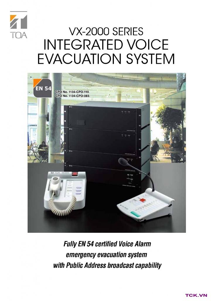 vx-2000 hệ thống âm thanh công cộng cho siêu thị