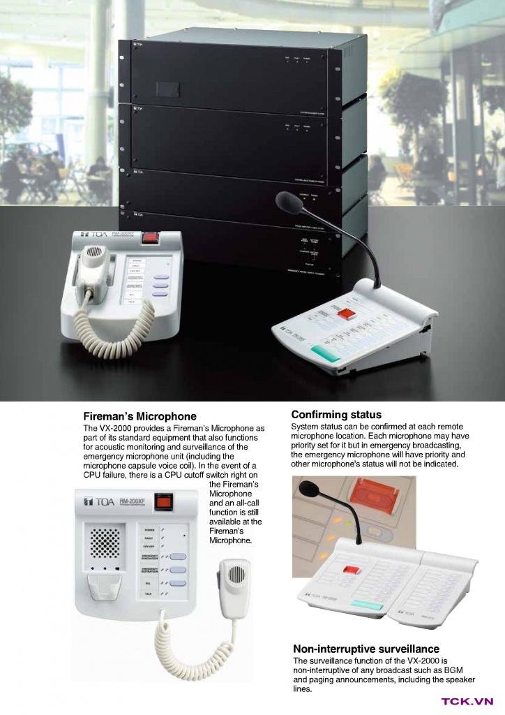 vx-2000 hệ thống âm thanh thông báo