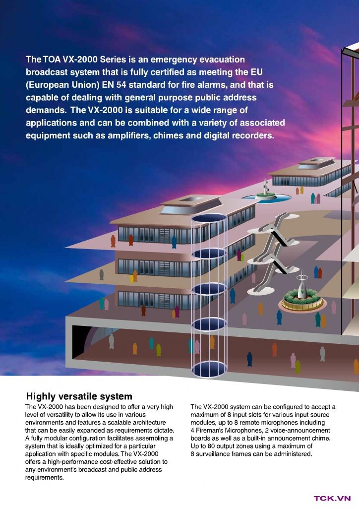 vx-2000 hệ thống âm thanh công cộng cho toà nhà